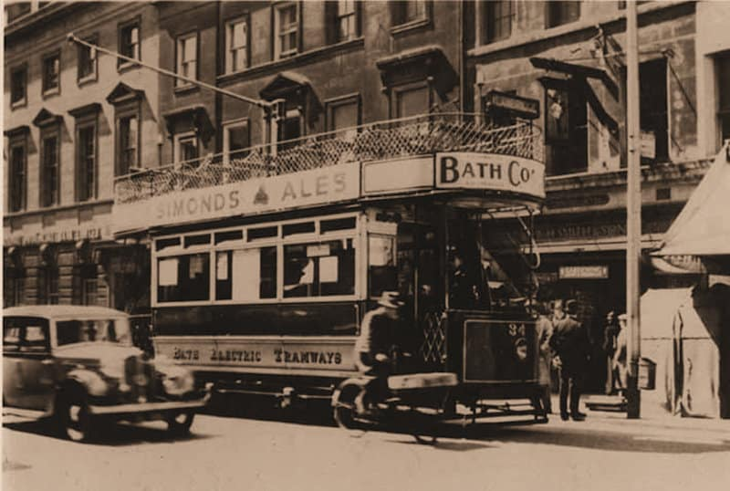 vintage Bath electric tram